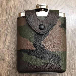 COACH Flask with Camo Green PVC Leather Cover